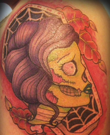Zombie woman tattoo