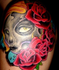 Tattoo of zombie