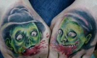 Zombie bite tattoo